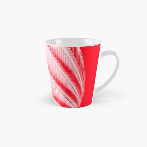 White and red design Tall Mug