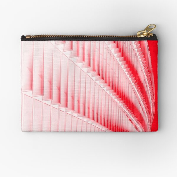 White and red design Zipper Pouch