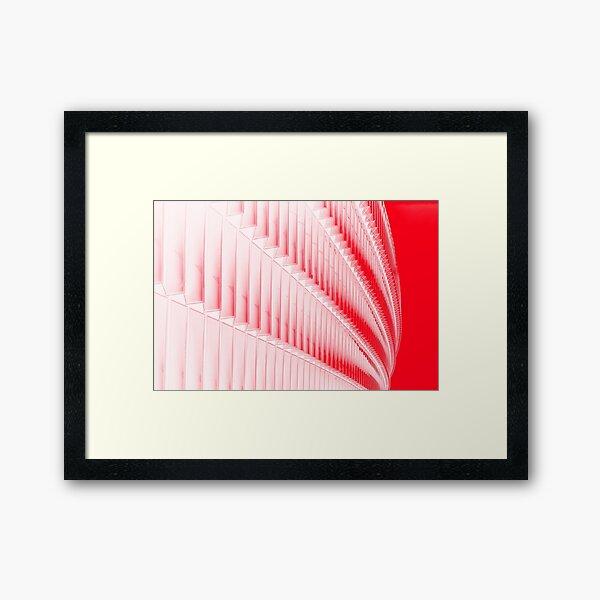 White and red design Framed Art Print