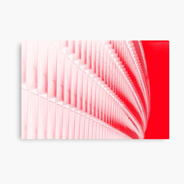 White and red design Canvas Print