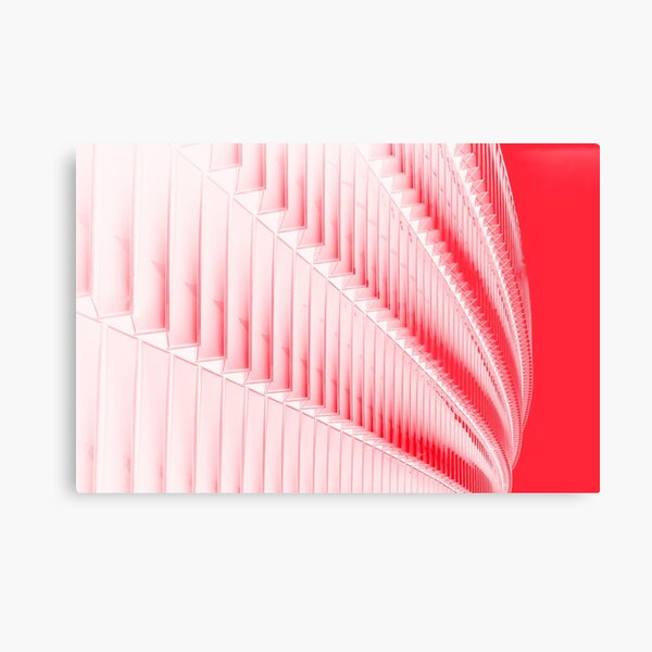 White and red design Metal Print