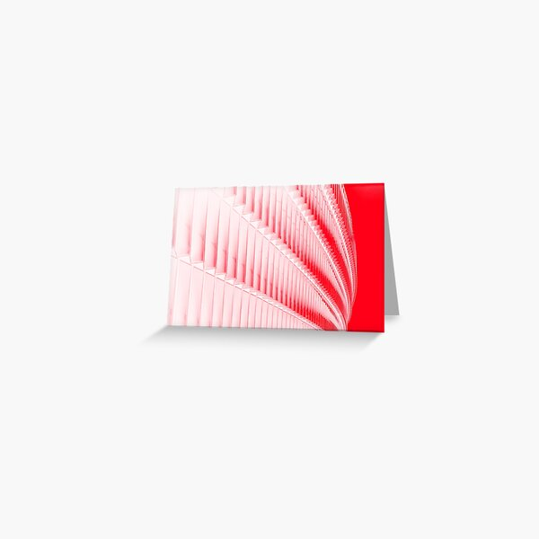 White and red design Greeting Card