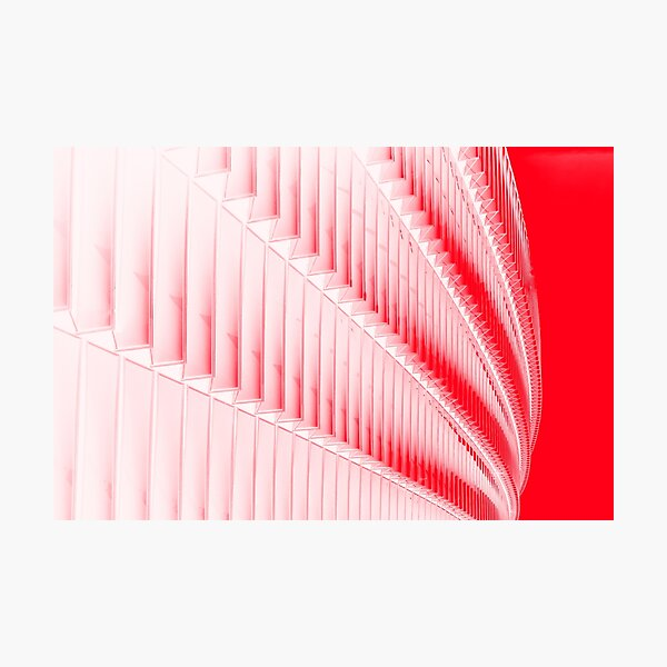 White and red design Photographic Print