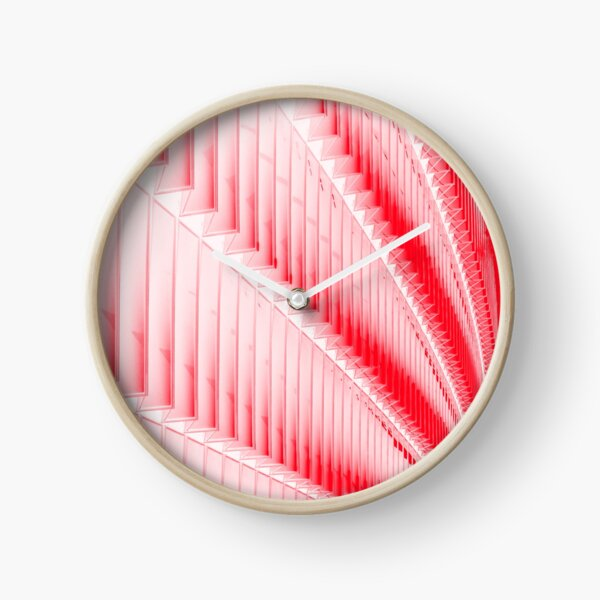 White and red design Clock