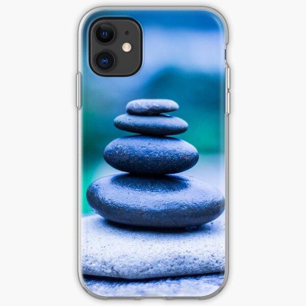 Zen stones blue iPhone Soft Case