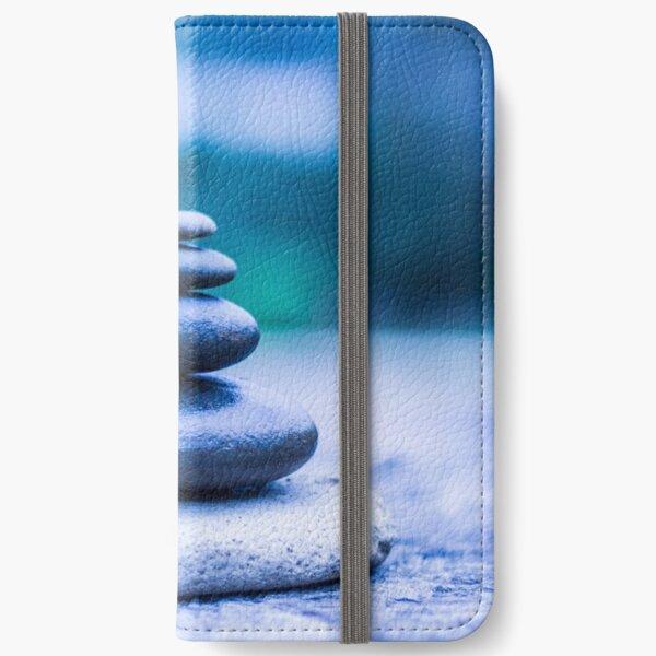 Zen stones blue iPhone Wallet