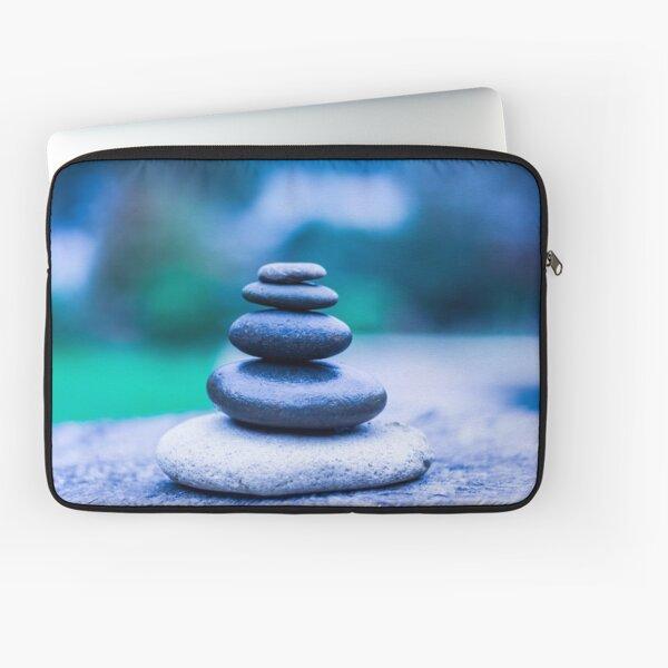 Zen stones blue Laptop Sleeve