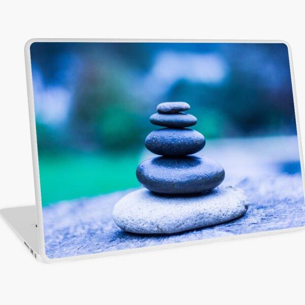 Zen stones blue Laptop Skin