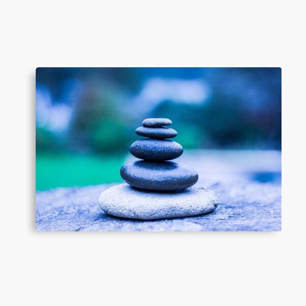 Zen stones blue Canvas Print