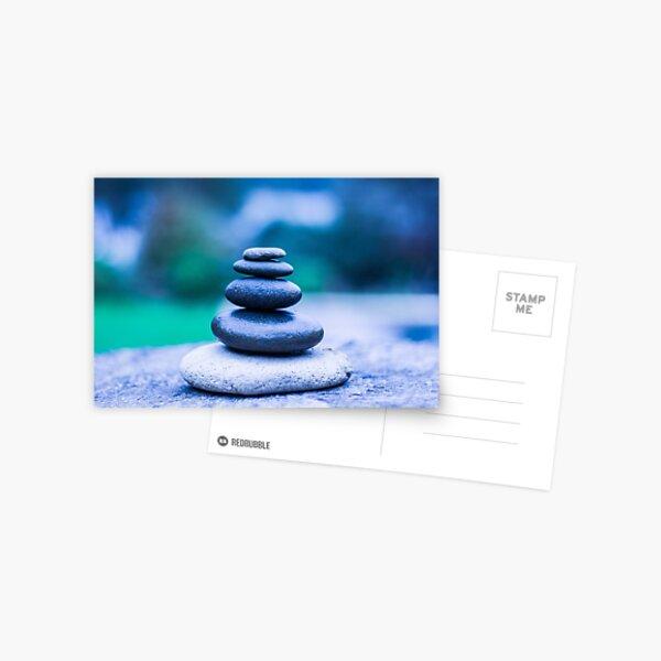 Zen stones blue Postcard
