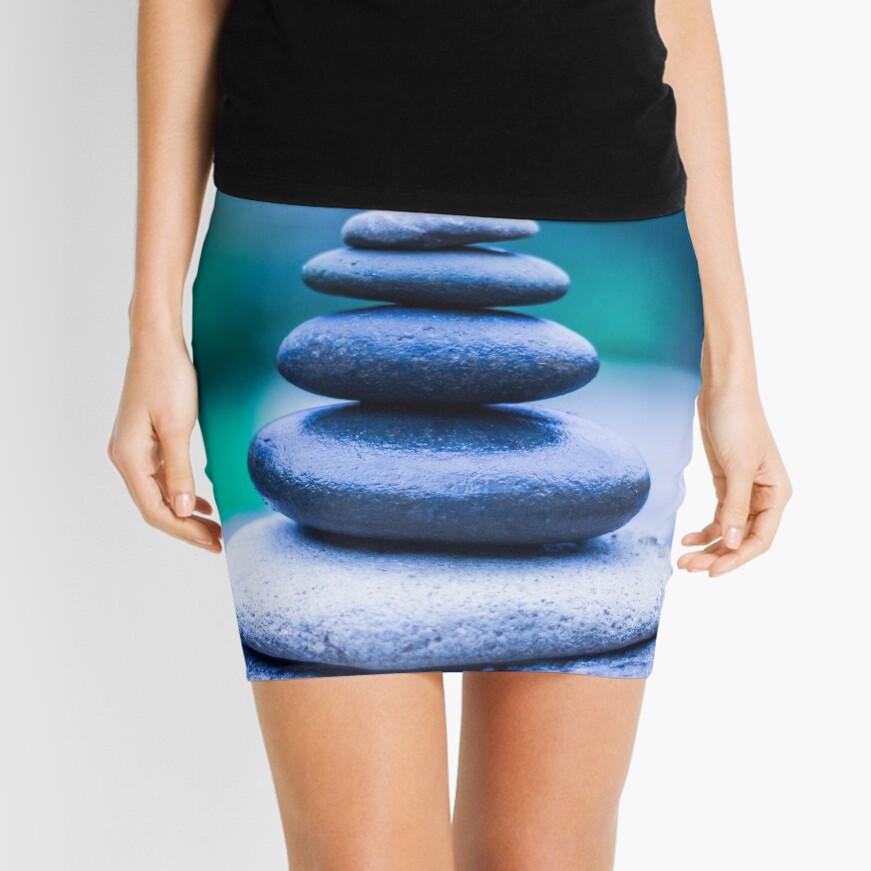 Zen stones blue Mini Skirt