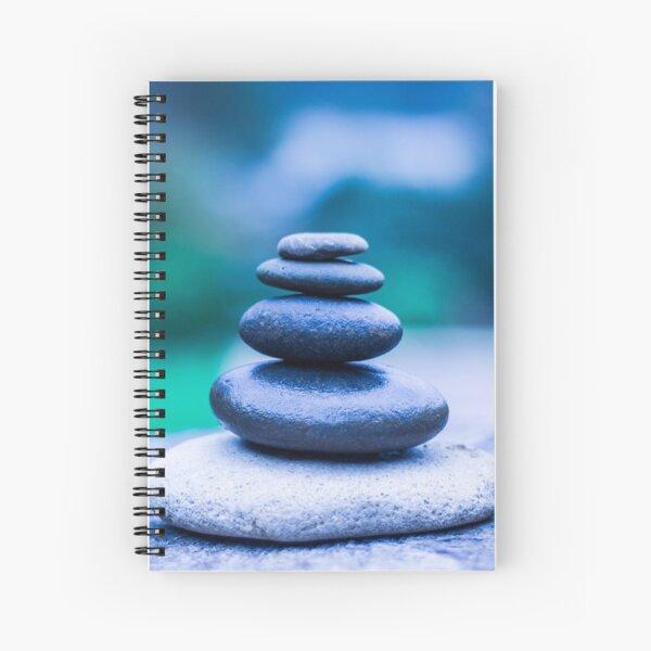 Zen stones blue Spiral Notebook