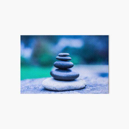 Zen stones blue Art Board Print