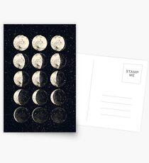 Mondzyklus Postkarten