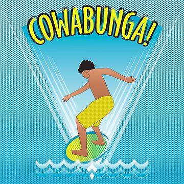 Cowabunga Flow-boarding Pop Art by janetcarlson