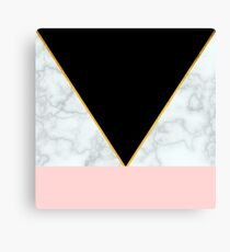 Gold, Pastel, Marble Canvas Print