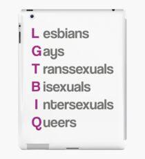 LGTBIQ, lesbians, gays, transsexuals, bisexuals, intersexuals, queers Vinilo o funda para iPad