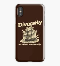 Diversity, an Old Old Wooden Ship iPhone Case