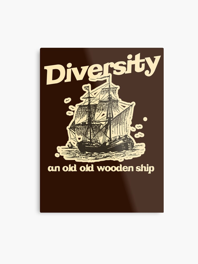 Diversity An Old Old Wooden Ship Metal Print