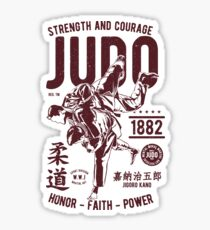 STRENGHT AND COURAGE JUDO 1882 HONOR -FAITH - POWER  T-SHIRT  Sticker