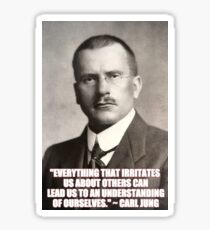 Carl Jung Photo and Quote Sticker