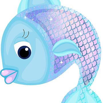 Blue and Pink Cartoon Fish by Whimsydesigns