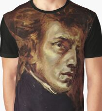 The Portrait of Frédéric Chopin by French artist Eugène Delacroix (1838) Graphic T-Shirt