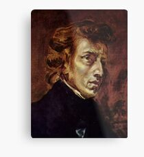 The Portrait of Frédéric Chopin by French artist Eugène Delacroix (1838) Metal Print