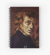 The Portrait of Frédéric Chopin by French artist Eugène Delacroix (1838) Spiral Notebook