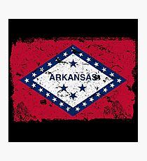 Arkansas Vintage Flag Photographic Print