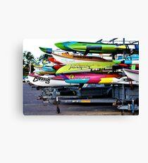 Surfboard Marathon  Canvas Print