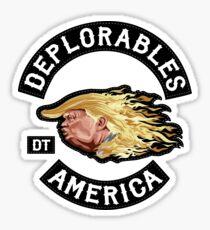 Deplorables for Trump - black & white Sticker