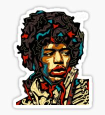 Faces Of The World - Jimmy Hendrix Sticker