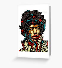 Faces Of The World - Jimmy Hendrix Greeting Card