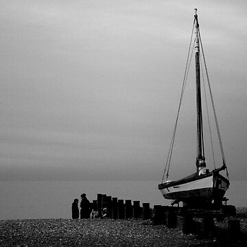 the boat on the beach by sallypmoore