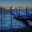 Venice - view across the Lagoon by hans p olsen
