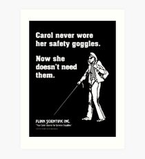Carol Science Poster  Art Print