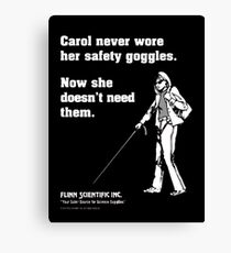 Carol Science Poster  Canvas Print