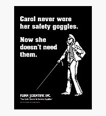 Carol Science Poster  Photographic Print