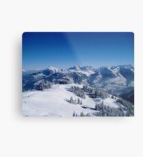 kitzbuhel winter wonderland Metal Print