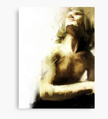 Male Nude Painting (digital) Canvas Print