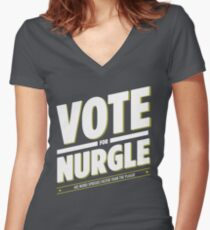 Vote for Nurgle Women's Fitted V-Neck T-Shirt