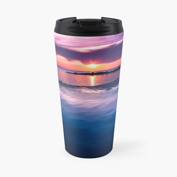 Tropical sunset pool Travel Mug
