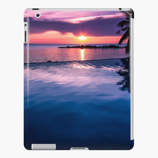 Tropical sunset pool iPad Snap Case