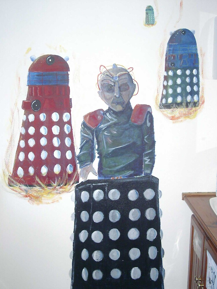 A Dr Who mural by charredarmour