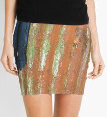 Rust Stripe Abstract Mini Skirt