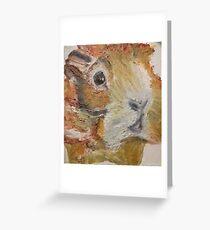 Meerschweinchen, kein Hampster! In Ölmalerei und auf Leinwand Grußkarte