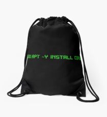 linux command  Drawstring Bag