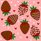 Chocolate Covered Strawberries by Stephanie Hardy