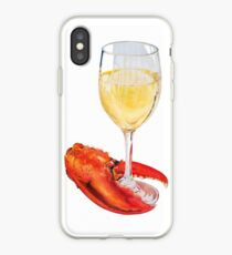 Lobster Claw and Wine iPhone Case
